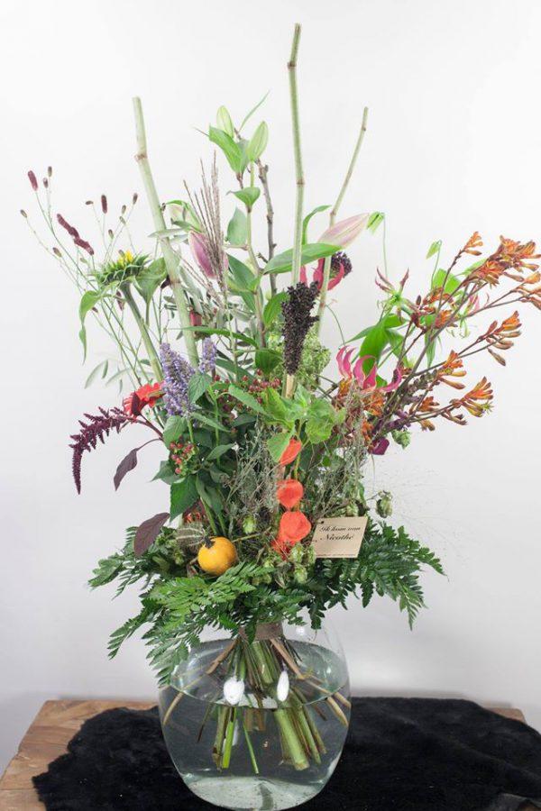 Bloemen op rekening kopen